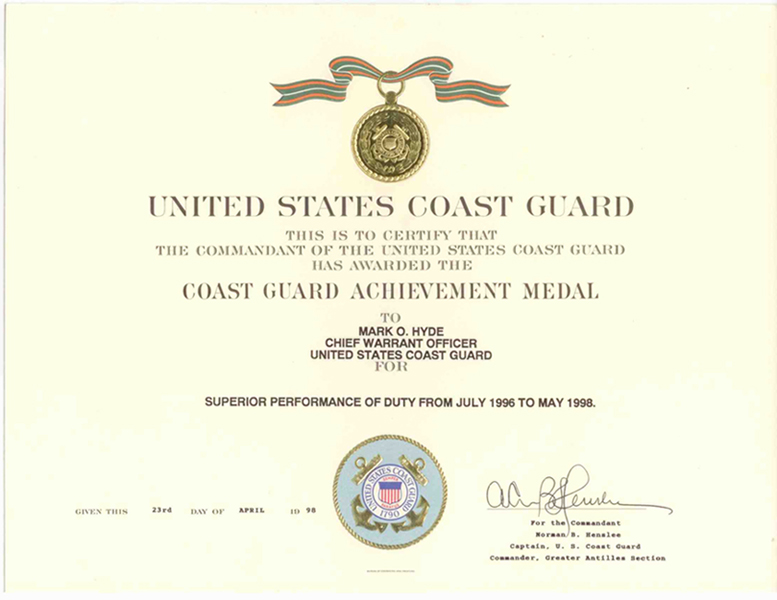 Substantial compliance united states coast guard achievement medal click to enlarge spiritdancerdesigns Image collections